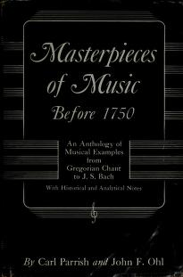 Cover of: Masterpieces of music before 1750 | Carl Parrish