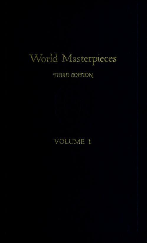 World masterpieces by Maynard Mack